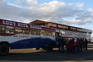 Cody Rodeo Bus :: Transportation to and from the Cody Nite Rodeo and Cody Stampede Rodeo, every night from June 1 through the end of August. Don't unhitch your trailer, let us pick you up!