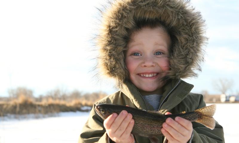 Ice Fishing Kids