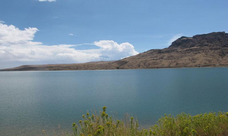 Buffalo Bill Reservoir in Cody Wyoming