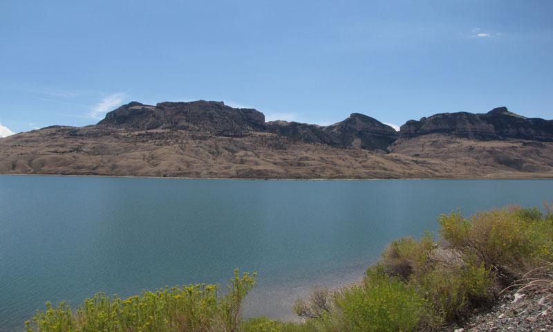 Buffalo Bill Reservoir in Cody Wyoming