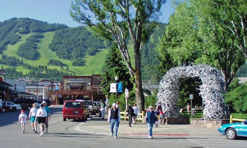 Jackson Wyoming Town Square Downtown