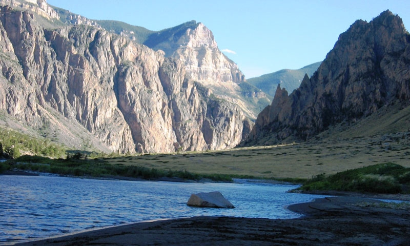 The Clarks Fork of the Yellowstone near Cody Wyoming