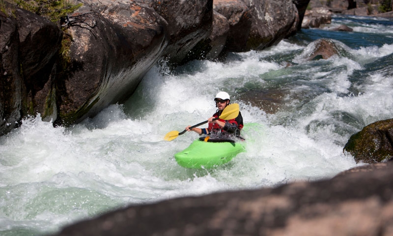 Kayaking the Clarks Fork of the Yellowstone River in Wyoming